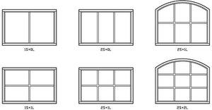 Fönster 352 Fast karm, Isolerglas, Valvad överdel.